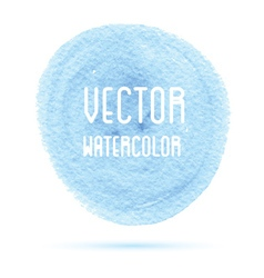Blue watercolor stain isolated on white vector image