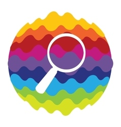 Search Rainbow Color Icon for Mobile Applications vector image