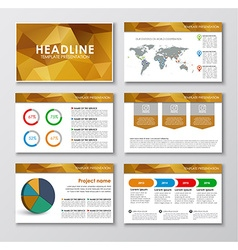 Templates polygonal slides for presentations vector