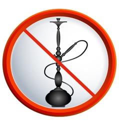 No smoking shisha vector image