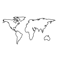 world map geography icon vector image