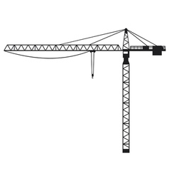 Building crane vector