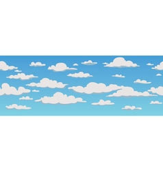 Clouds seamless pattern background vector