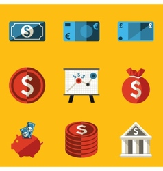 Flat icon set money vector