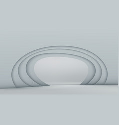 3d abstract background with white paper cut shapes vector image vector image