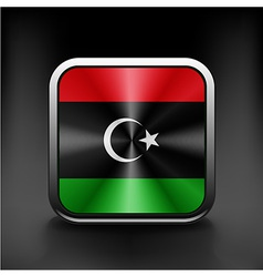 Flag of libya icon world country symbol vector