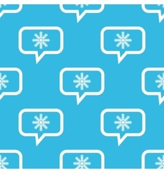Winter message pattern vector