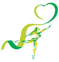 Ribbon gymnastics vector