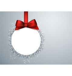 Christmas ball light background vector