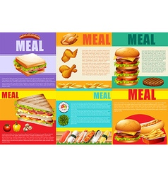 Infographic healthy food and fastfood vector