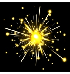 Glowing party sparkler vector