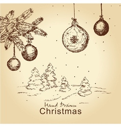 Vintage christmas set vector
