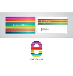 Logo and business card vector