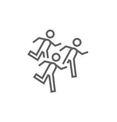 Running men line icon vector
