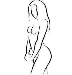 sketch of nude woman vector image