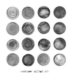 art watercolor circles vector image vector image
