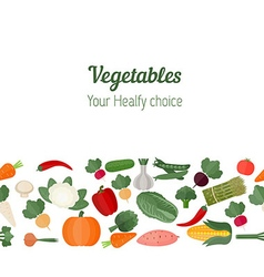 Background with various vegetables vector image vector image