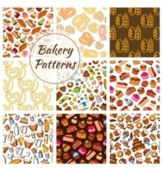 Bakery and pastry seamless pattern background vector image vector image