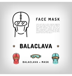 balaclava isolated icon Winter sport face vector image vector image