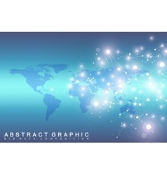 Geometric graphic background communication with vector image vector image