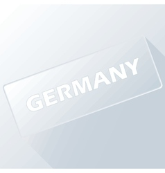 Germany unique button vector