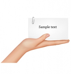 Hand and card vector