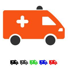 Hospital car flat icon vector