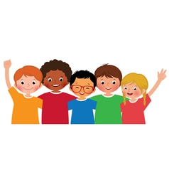International group of children friends vector