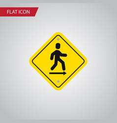 Isolated road sign flat icon direction pointer vector