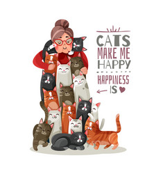 Lady cats vector