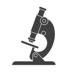 microscope silhouette vector image vector image