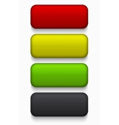 Modern colorful web buttons set vector