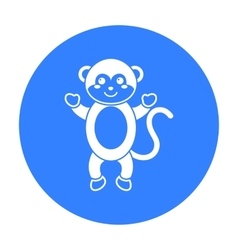Monkey black icon for web and mobile vector image