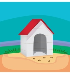 Perfect dog house vector image