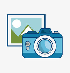 Picture and camera icon vector
