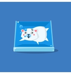 Polar bear in aquarium vector