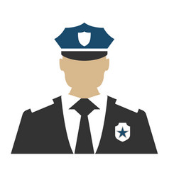 police officer elements of the police equipment vector image vector image