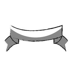 ribbon decorative frame icon vector image vector image