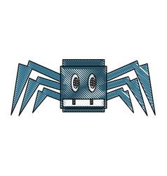 Robot spyder game character vector
