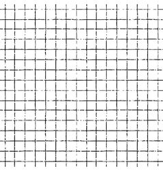 seamless hand drawn pattern with grid lines vector image vector image