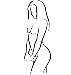 sketch of nude woman vector image vector image