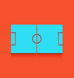 Soccer field whitish icon on brick wall vector