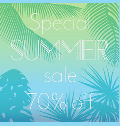 special summer sale text on vector image vector image