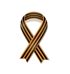 St george striped black and orange ribbon isolated vector