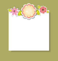 template for postcard invitationcard vector image vector image