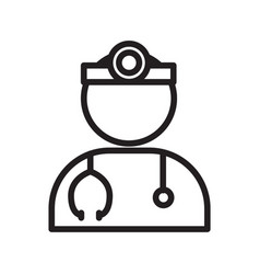 Thin line doctor icon vector