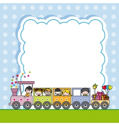 Train with children vector image vector image