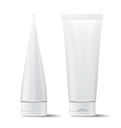 Tube mock up empty clean cream cosmetic vector