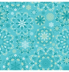 turquoise christmas pattern vector image vector image