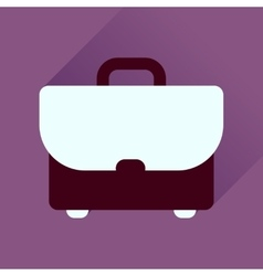 Flat icon with long shadow business case vector